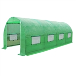 Large 10 x 20 Ft Garden Greenhouse Kit with Green PE Cover