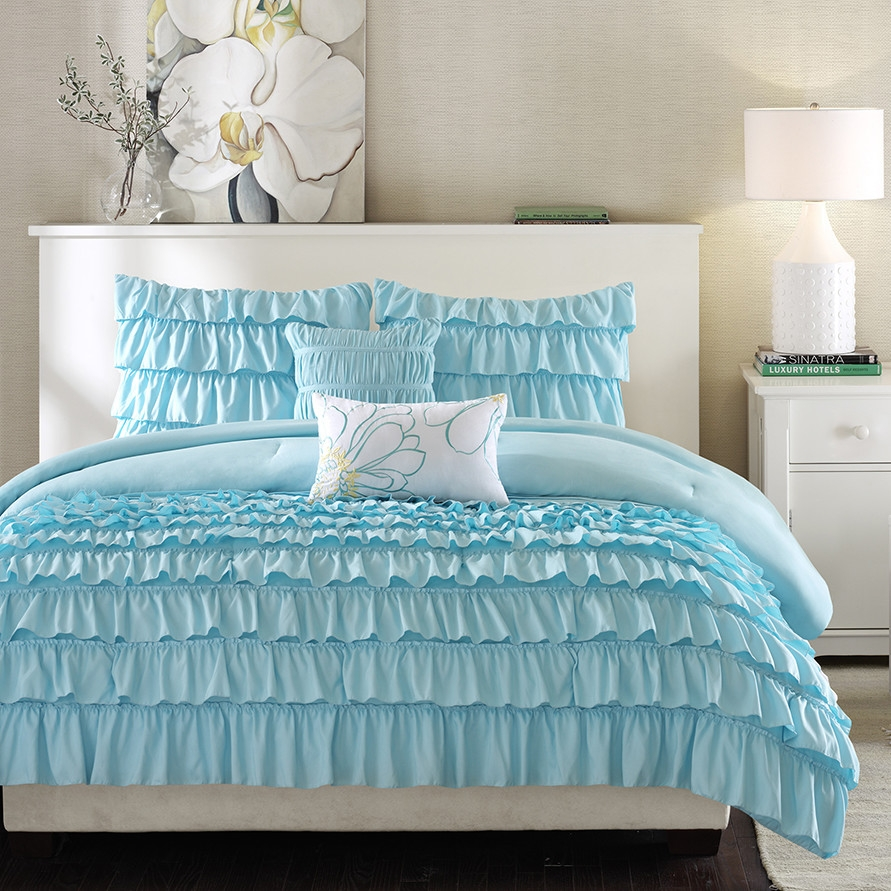 blue piece comforter walmart white regal com ip set orange