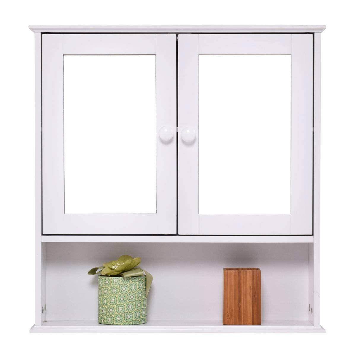 Simple Bathroom Mirror Wall Cabinet In