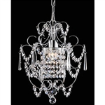 Elegant Chrome Crystal Chandelier
