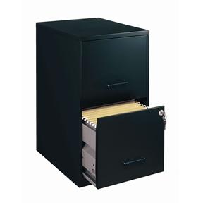 Black Metal 2-Drawer Vertical Filing File Cabinet - Made in USA