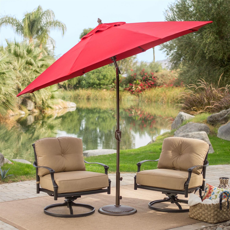 Tilt Patio Umbrella With Antique Bronze