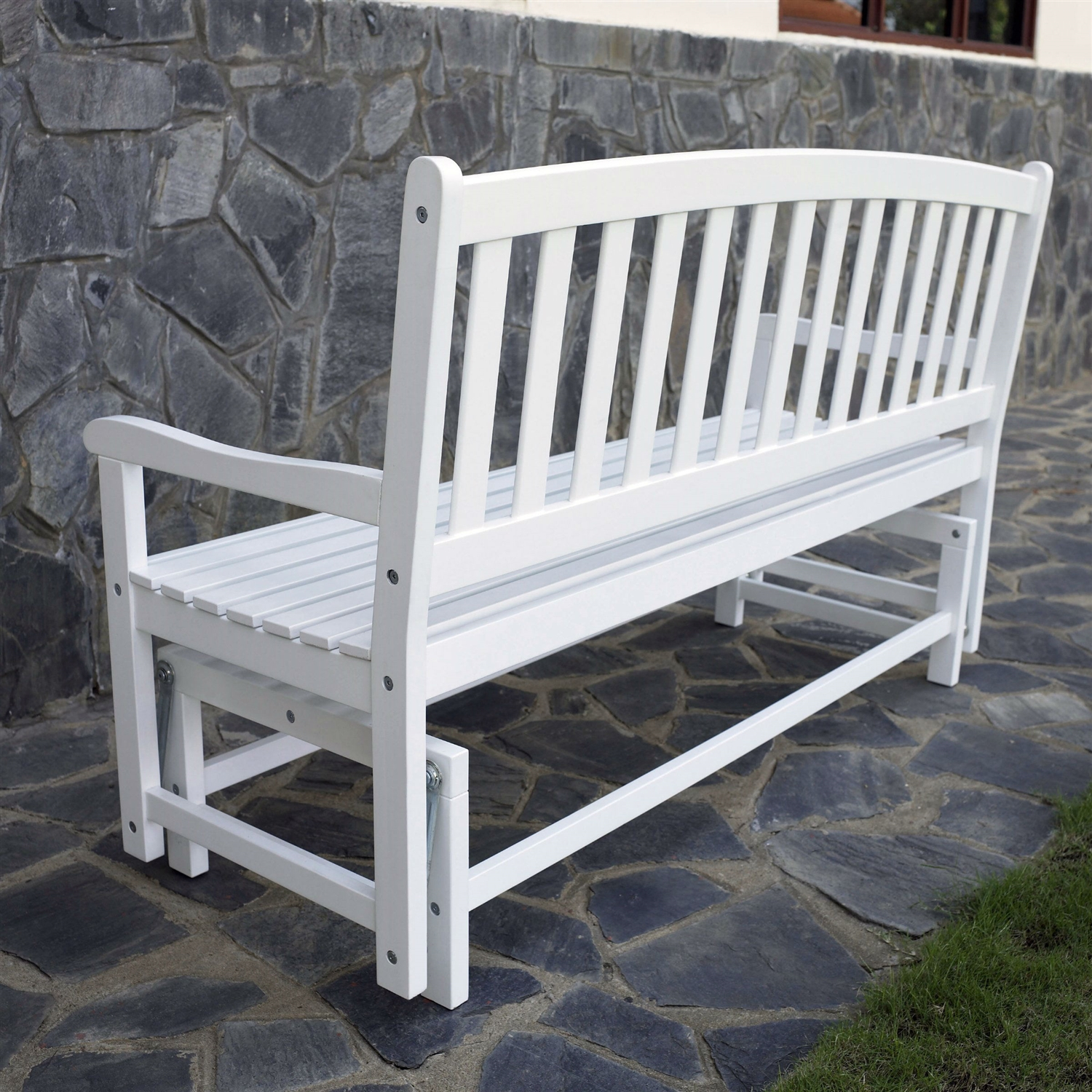 loveseat htm white in chair outdoor wood p bench finish price retail patio ft glider