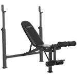Steel Frame Weight Bench with Adjustable Height Bar Chest Press Military Incline Decline