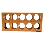 Eco Friendly 10 Bottle Bamboo Stackable Wine Rack