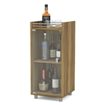 Sturdy Espresso 2 Shelf Classic Mini Home Bar