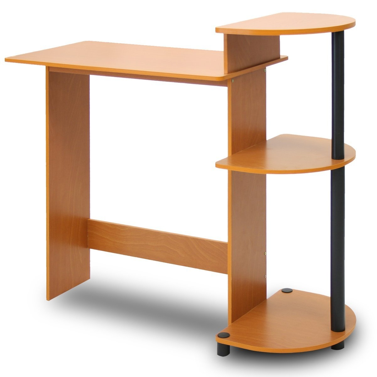 Simple Modern Home Office Computer Desk in Cherry Black Finish