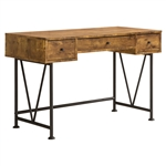 Farmhouse Rustic Home Office 3 Drawer Writing Desk