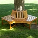 Hexagonal Outdoor Tree Bench in Weather Resistant Cedar Wood