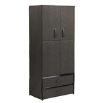 Durable Steel Frame Wardrobe with Canvas Sides