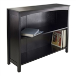 Espresso Sturdy 3 Tier Bookcase Shelf Dresser