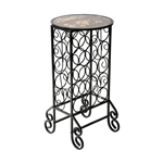 Black Iron 15-Bottle Wine Rack Accent Table