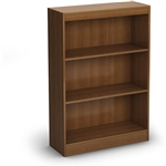 3-Shelf Bookcase in Morgan Cherry - Made from CARB Compliant Particle Board