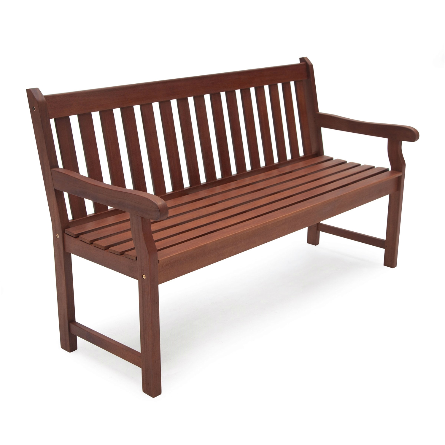 4 ft outdoor love seat garden bench in natural wood finish - Wooden Garden Furniture Love Seats