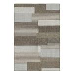 x x棕色沙现代几何条纹区地毯