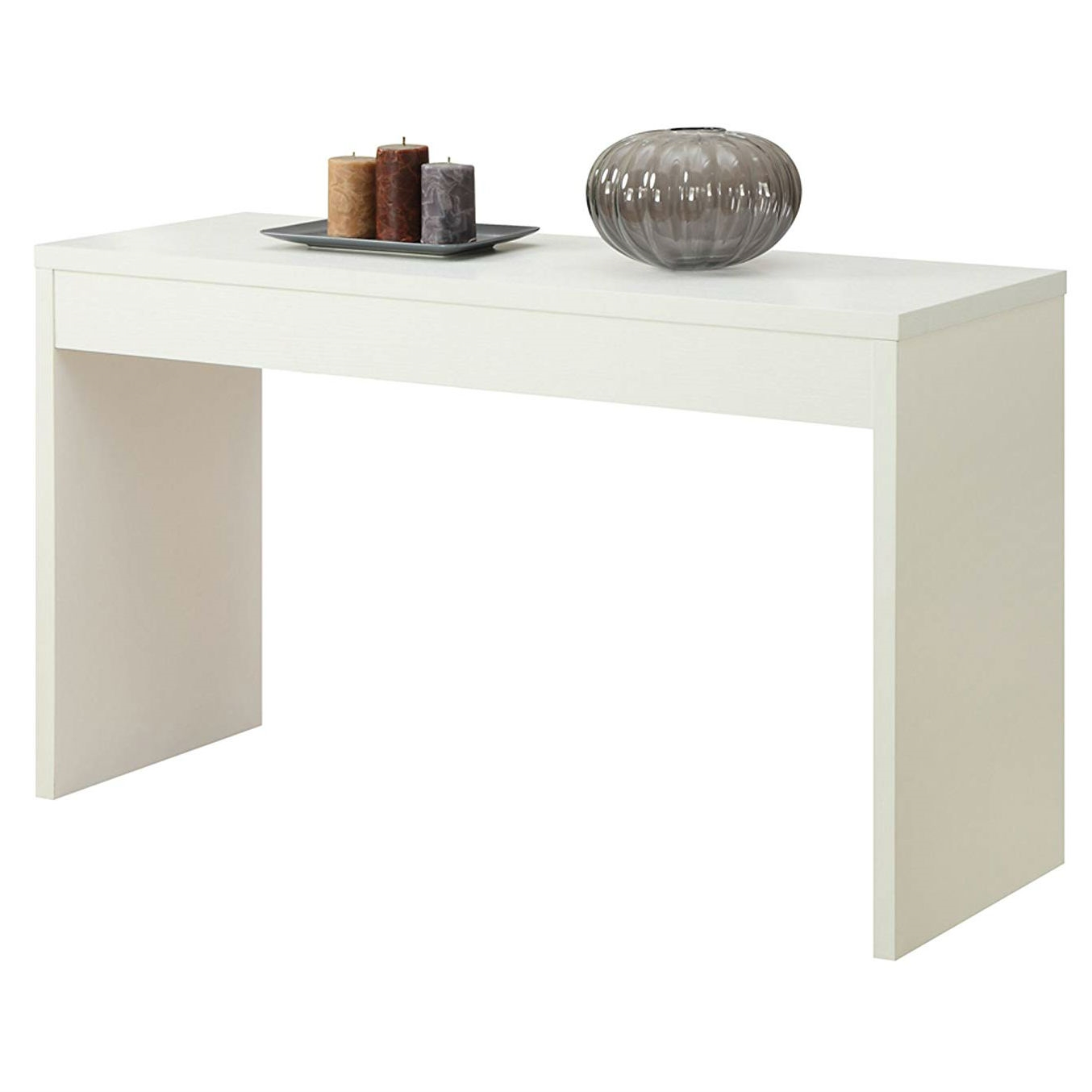 Picture of: White Sofa Table Modern Entryway Living Room Console Table Fastfurnishings Com