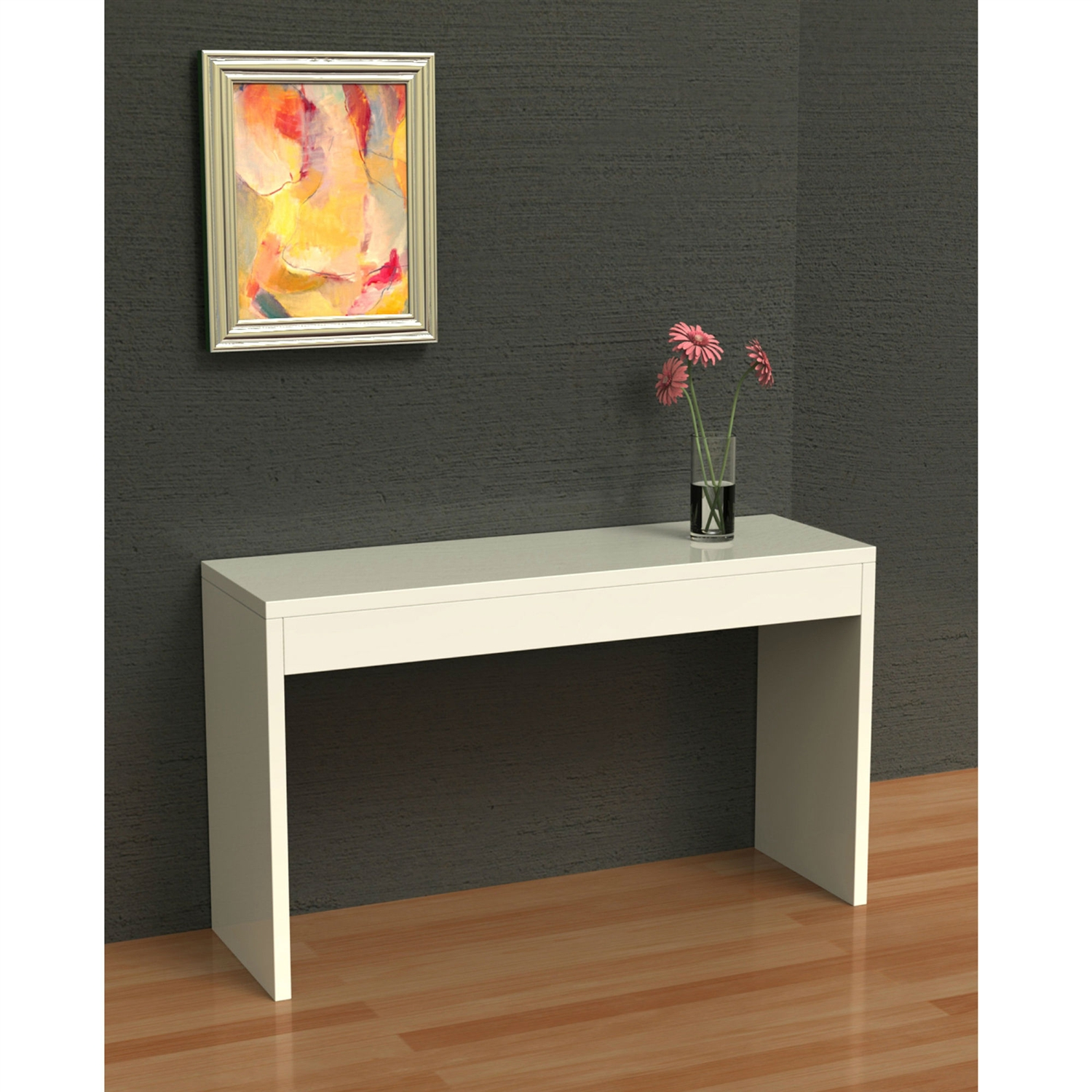 White Sofa Table Modern Entryway Living Room Console Table Fastfurnishings Com