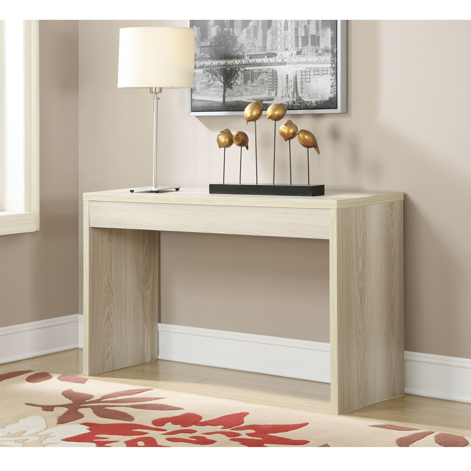 Contemporary Sofa Table Console Table In Weathered White Wood Finish Fastfurnishings Com