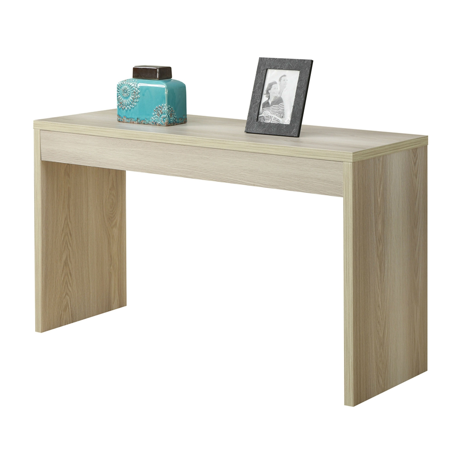 contemporary sofa table console table in weathered white wood  - retail price