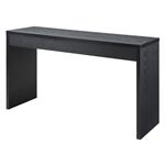 现代黑木纹沙发桌客厅控制台桌