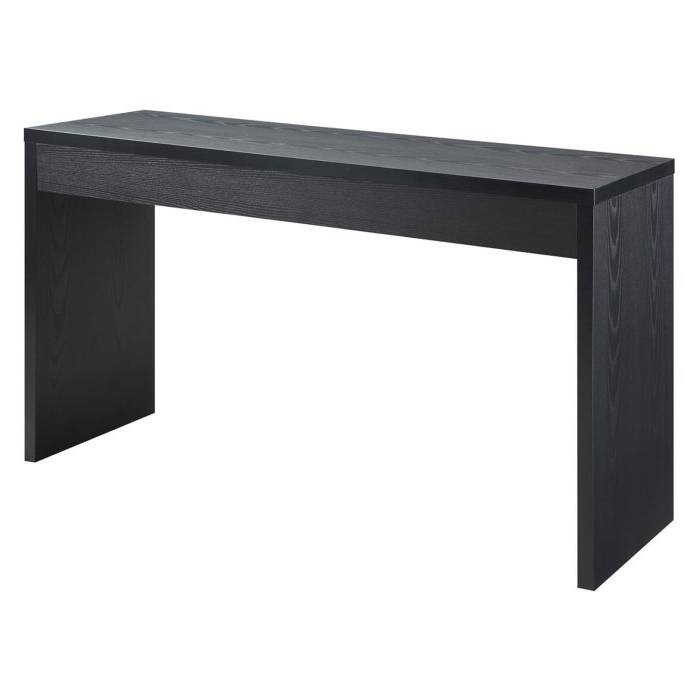 Contemporary Espresso Black Wood Grain Sofa Table Living Room Console