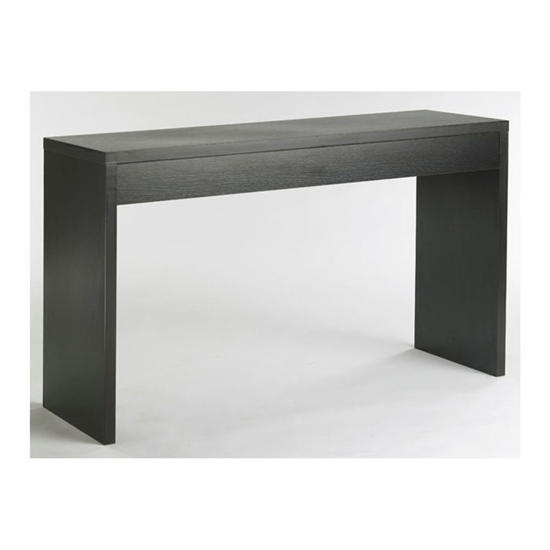 Contemporary Living Room Console Wall / Sofa Table in Espresso