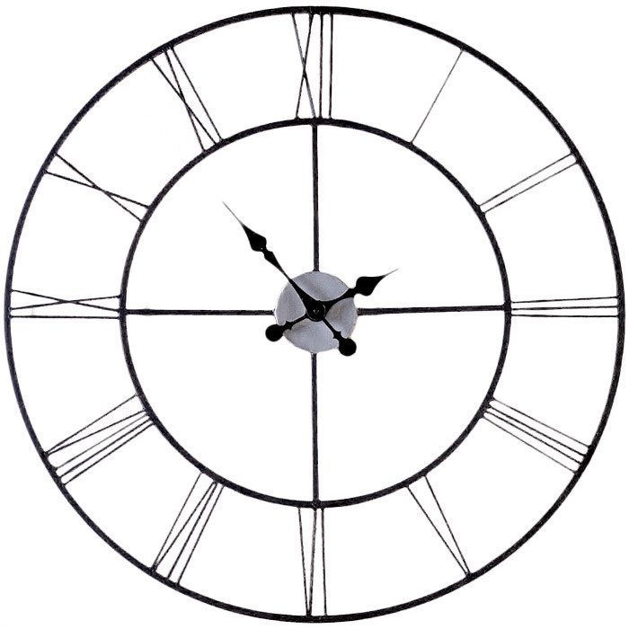 Oversized 30inch Black Wall Clock with Roman Numerals