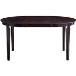 深棕色卡布奇诺木饰面当代椭圆形餐桌