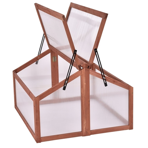 FarmHouse Bug Free Double Box Wooden Small Portable Greenhouse