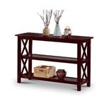 卡布奇诺实木沙发桌书架