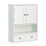 White Cottage Multi Drawer/Cabinet Wall Mounted Bathroom Storage