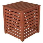 Outdoor 90 Gallon Solid Wood Compost Bin with Brown Finish