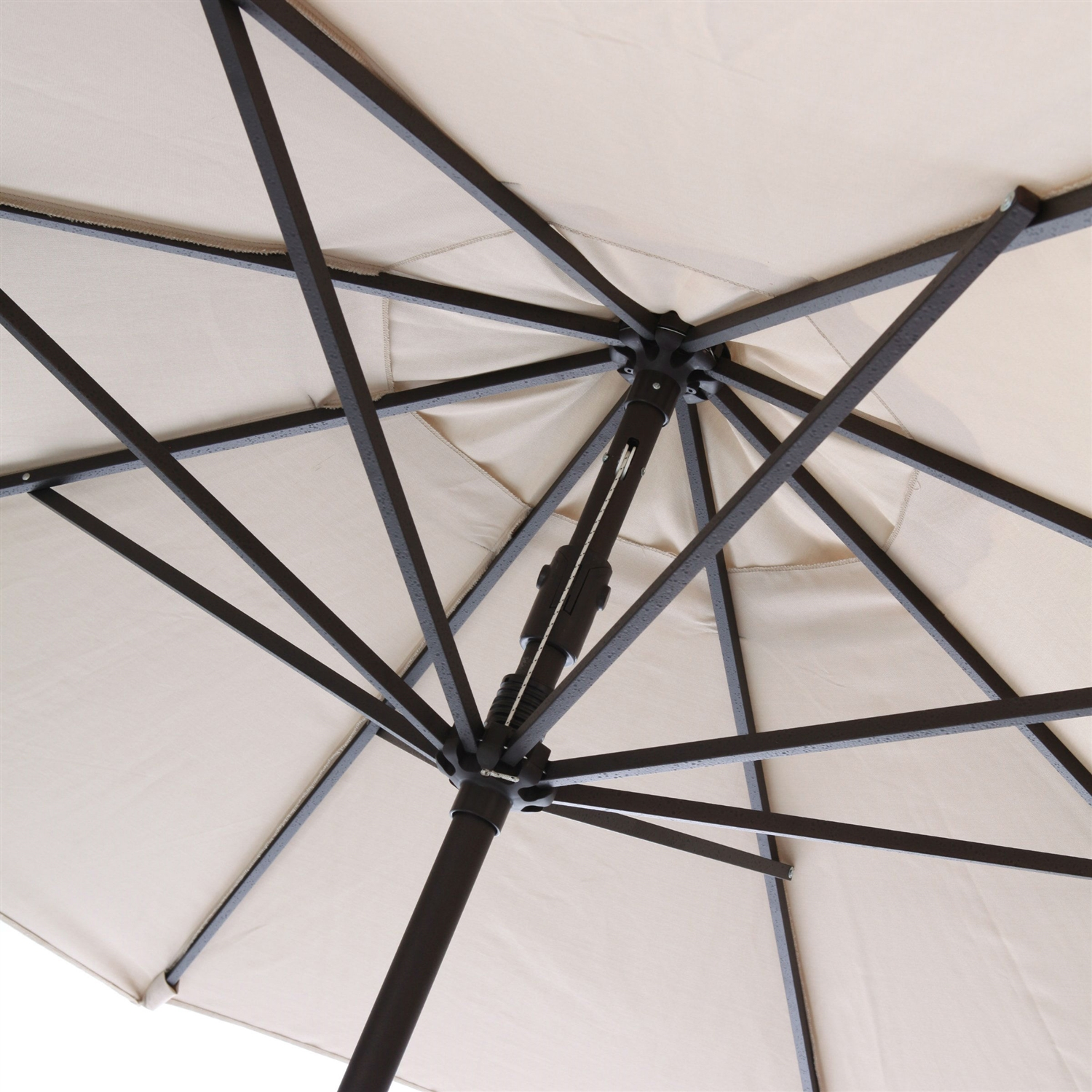 Retail Price $269.00 & 9-Ft Market Umbrella with Tilt and Crank with Beige and White Stripe ...