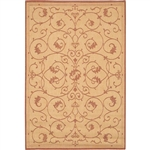 5'10 x 9'2 Indoor Outdoor Area Rug with Floret Floral Pattern Terracotta