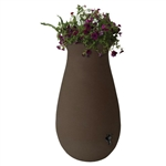 65-Gallon Dark Brown Rainwater Collection System Rain Barrel
