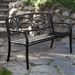 4-Ft Metal Garden Bench in Antique Black Finish