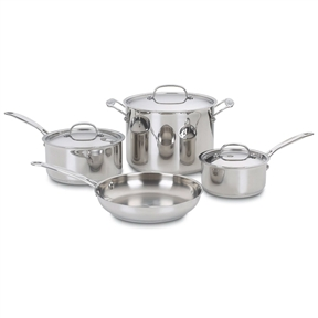 7-Piece Oven Safe Stainless Steel Cookware Set