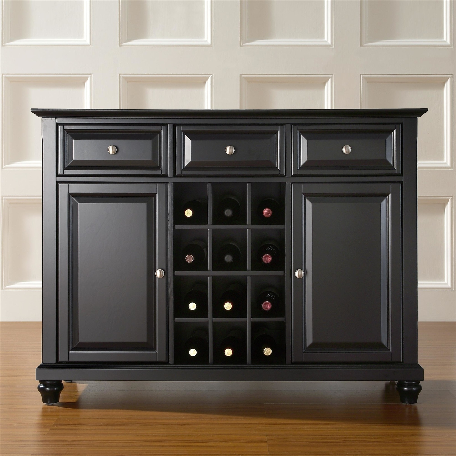 Contemporary Dining Room Sideboard Buffet Cabinet In Black Fastfurnishings