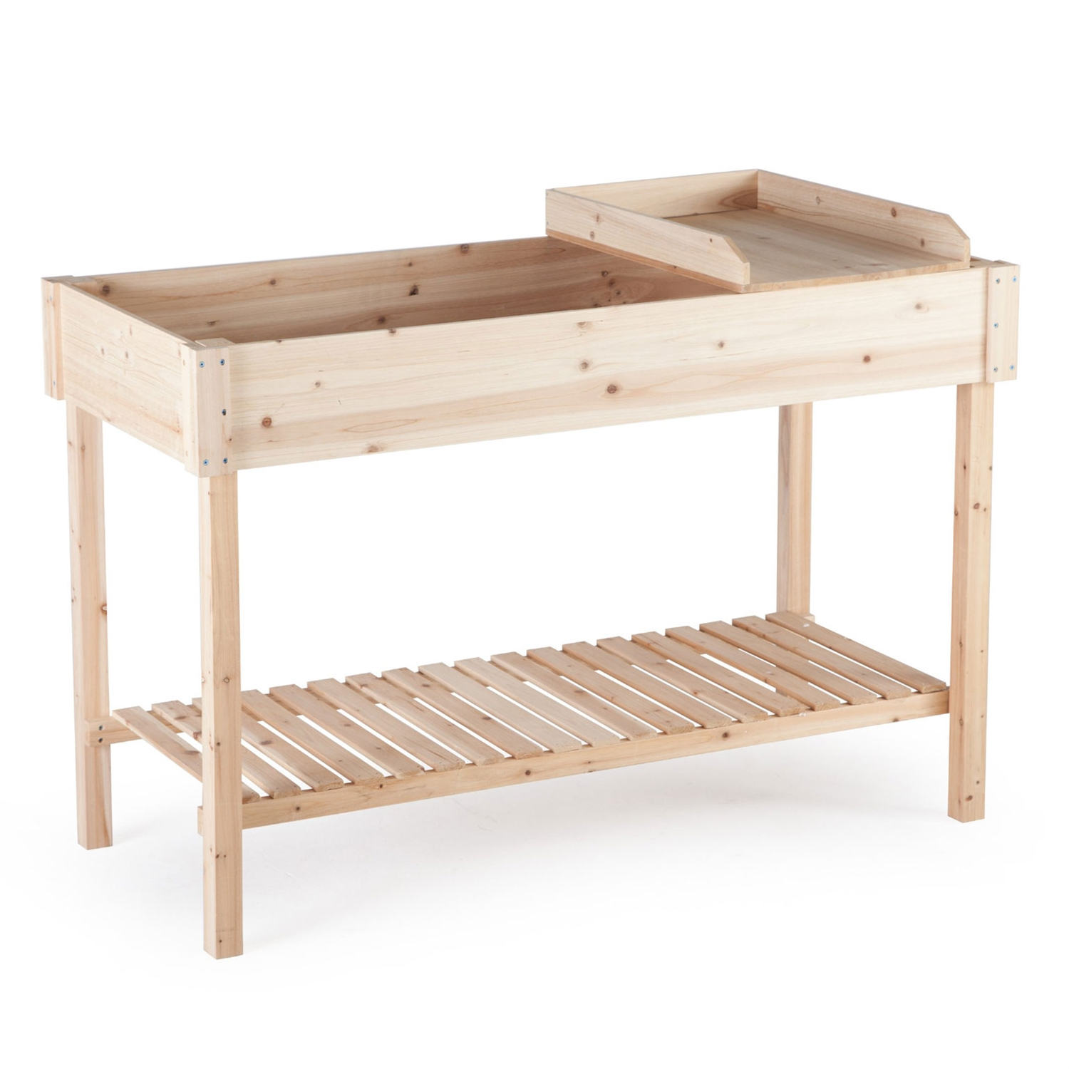 Potting Bench Garden Planting Table in Unfinished Cedar Wood ...