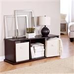 现代棕色咖啡堆叠存储架带书架的书柜