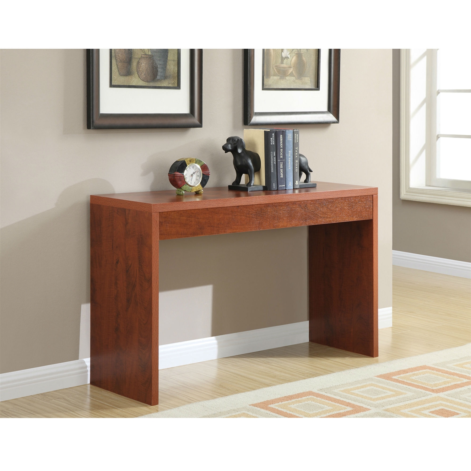 Awesome Cherry Finish Sofa Table Modern Living Room Console Table Bralicious Painted Fabric Chair Ideas Braliciousco