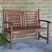 Contemporary Outdoor 2-Seat Garden Bench with Weather Resistant Wood Finish
