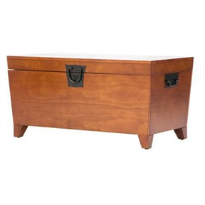 wooden lift top coffee table storage trunk in mission oak finish. Black Bedroom Furniture Sets. Home Design Ideas