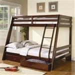 现代卡布奇诺双床房,全双层床,带储物抽屉