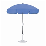 7.5 Foot Patio Umbrella with Push Button Tilt in Royal Blue Olefin
