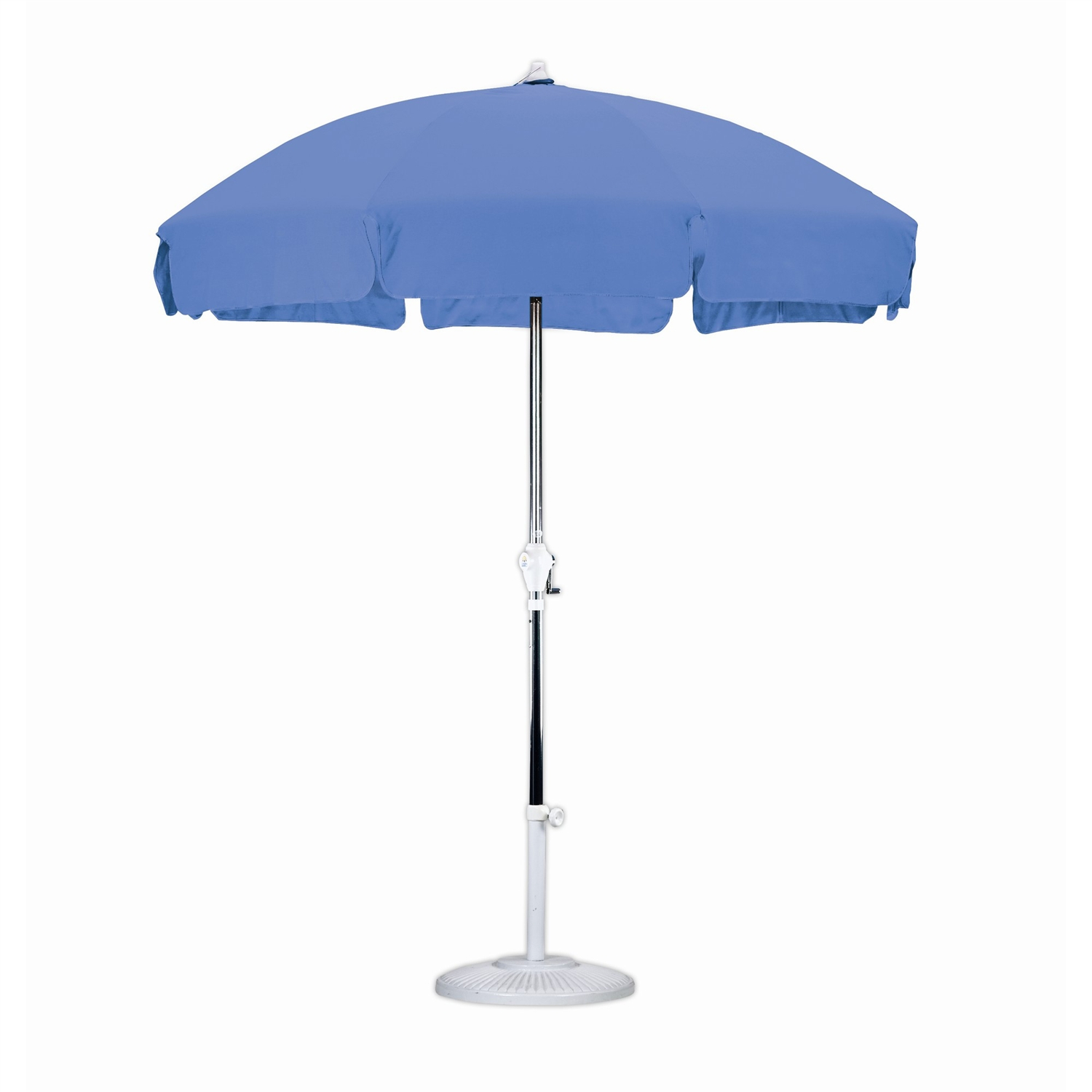 Amazing 7.5 Foot Patio Umbrella With Push Button Tilt In Royal Blue Olefin