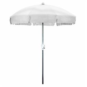 7.5 Foot Patio Umbrella with Push Button Tilt in White Olefin