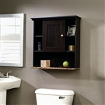 Bathroom Wall Cabinet with 3 Adjustable Shelves in Cinnamon Cherry Wood Finish