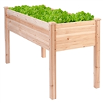 Solid Wood Cedar 30-inch High Raised Garden Bed Planter Box