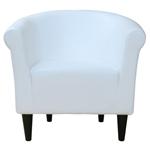 美国制造的现代经典白色人造皮革沙发椅